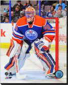 Edmonton Oilers Ben Scrivens 2013-14 Action 16x20 Stretched Canvas