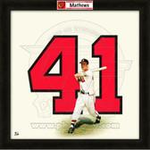 Eddie Mathews Atlanta Braves 20x20 Framed Uniframe Jersey Photo