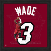 Dwyane Wade Miami Heat 20x20 Framed Uniframe Jersey Photo