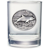 Dolphin Double Old Fashioned Glass Set