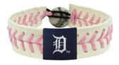 Detroit Tigers Pink Baseball Bracelet