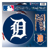 "Detroit Tigers Magnets - 11""x11 Prismatic Sheet"