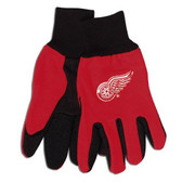 Detroit Red Wings Two Tone Gloves