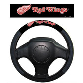 Detroit Red Wings Poly-Suede Steering Wheel Cover