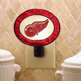 Detroit Red Wings Art Glass Nightlight