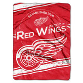 "Detroit Red Wings 60""x80"" Royal Plush Raschel Throw Blanket - Stamp Design"