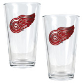 Detroit Red Wings  2pc Pint Ale Glass Set