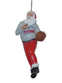 Detroit Pistons Santa Claus Christmas Ornament