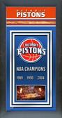 Detroit Pistons Framed Championship Banner