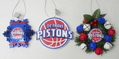 Detroit Pistons 3 Piece Christmas Ornament Box Set
