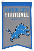 Detroit Lions Wool Franchise Banner