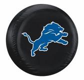Detroit Lions Black Tire Cover - Size Large