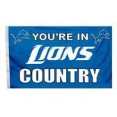 Detroit Lions 3 Ft. X 5 Ft. Flag W/Grommets 94121B