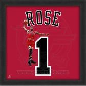 Derrick Rose Chicago Bulls 20x20 Framed Uniframe Jersey Photo