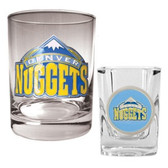 Denver Nuggets Rocks and Shot Glass Set