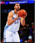 Denver Nuggets JaVale McGee 2014-15 Action 16x20 Stretched Canvas
