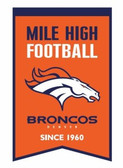 Denver Broncos Wool Franchise Banner