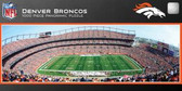 Denver Broncos Panoramic Stadium Puzzle