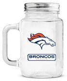 Denver Broncos Mason Jar Glass With Lid
