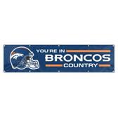 Denver Broncos 8' Banner