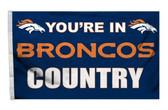Denver Broncos 3'x5' Country Design Flag