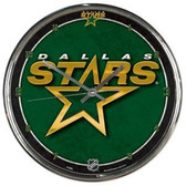 Dallas Stars Round Chrome Wall Clock