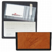 Dallas Stars Leather/Nylon Embossed Checkbook Cover