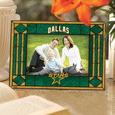 Dallas Stars Art Glass Horizontal Picture Frame