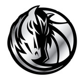 Dallas Mavericks Silver Auto Emblem