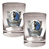 Dallas Mavericks Rocks Glass Set