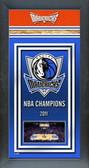 Dallas Mavericks Framed Championship Banner