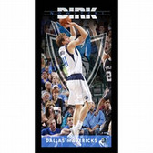 Dallas Mavericks Dirk Nowitzki Player Profile Wall Art 9.5x19 Framed Photo