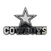 Dallas Cowboys Silver Auto Emblem