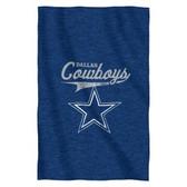 """Dallas Cowboys 54""""x84""""Sweatshirt Blanket - Script Design"""