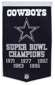 "Dallas Cowboys 24""x36"" Wool Dynasty Banner"
