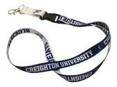 Creighton Bluejays Lanyard with Key Ring