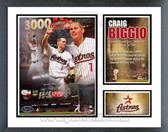 Craig Biggio Houston Astros 3000th Hit Milestones & Memories Framed Photo