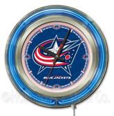 Columbus Blue Jackets Neon Clock