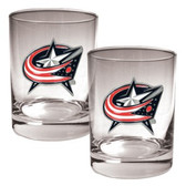Columbus Blue Jackets 2pc Rocks Glass Set - Primary Logo