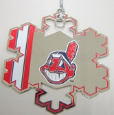 Cleveland Indians Snowflake Christmas Ornament