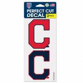 Cleveland Indians Set of 2 Die Cut Decals