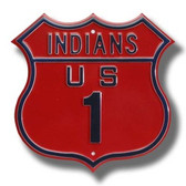 Cleveland Indians Route 1 Sign