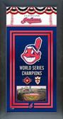 Cleveland Indians Framed Championship Banner