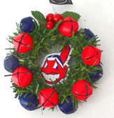 Cleveland Indians Christmas Wreath Ornament