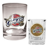 Cleveland Cavaliers Rocks and Shot Glass Set