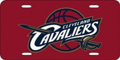 Cleveland Cavaliers Red Laser Cut License Plate