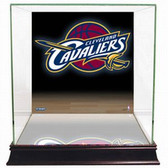 Cleveland Cavaliers Logo Background Glass Basketball Display Case
