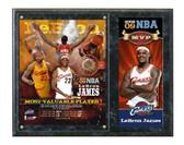 Cleveland Cavaliers Lebron James 2008-09 MVP Portrait Plus Plaque