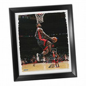 Cleveland Cavaliers Lebron Dunk Framed Stretched 22x26 Canvas