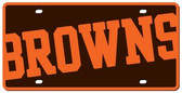 Cleveland Browns License Plate - Acrylic Mega Style